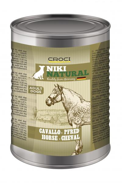 NIKI NATURAL konservai šunims su arkliena 400g