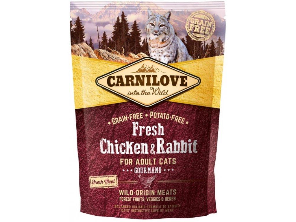 Begrūdis kačių maistas Carni Love Fresh Chicken&Rabbit for Adult Cat  6kg.