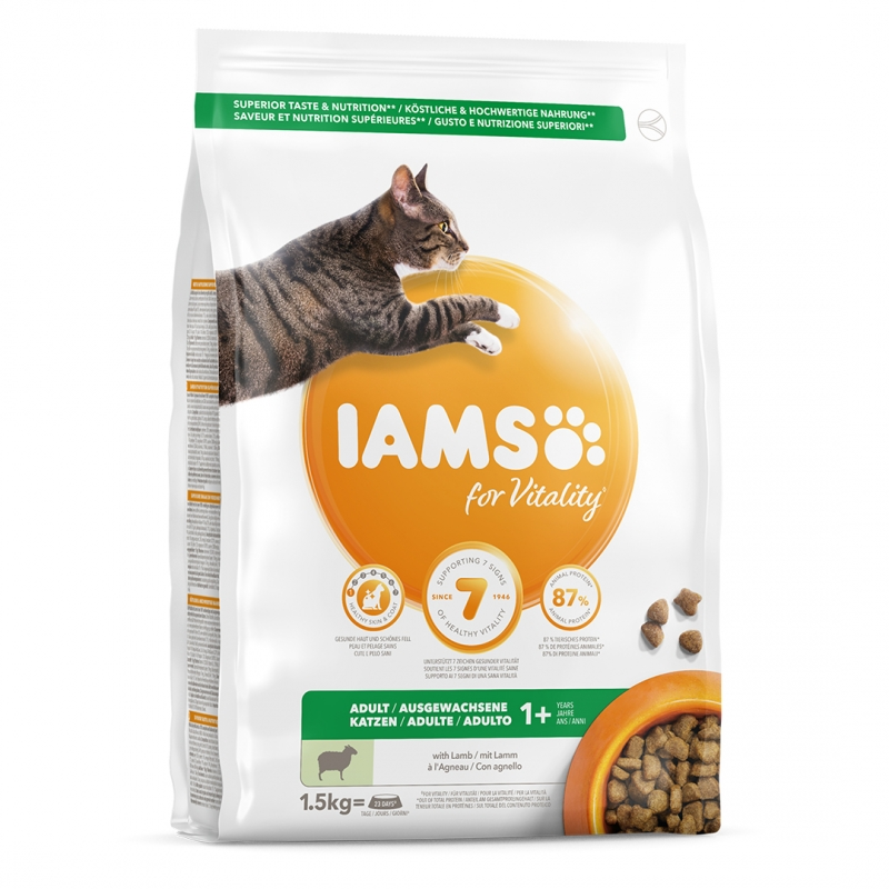 IAMS Adult Cat Lamb and Chicken 15kg
