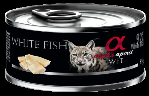 Alpha Spirit koncervai sterilizuotoms katėms su balta žuvimi 85g