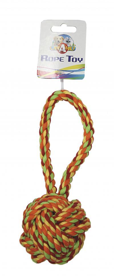 Virvelinis žaislas kamuolys su virve 23cm Ø8cm