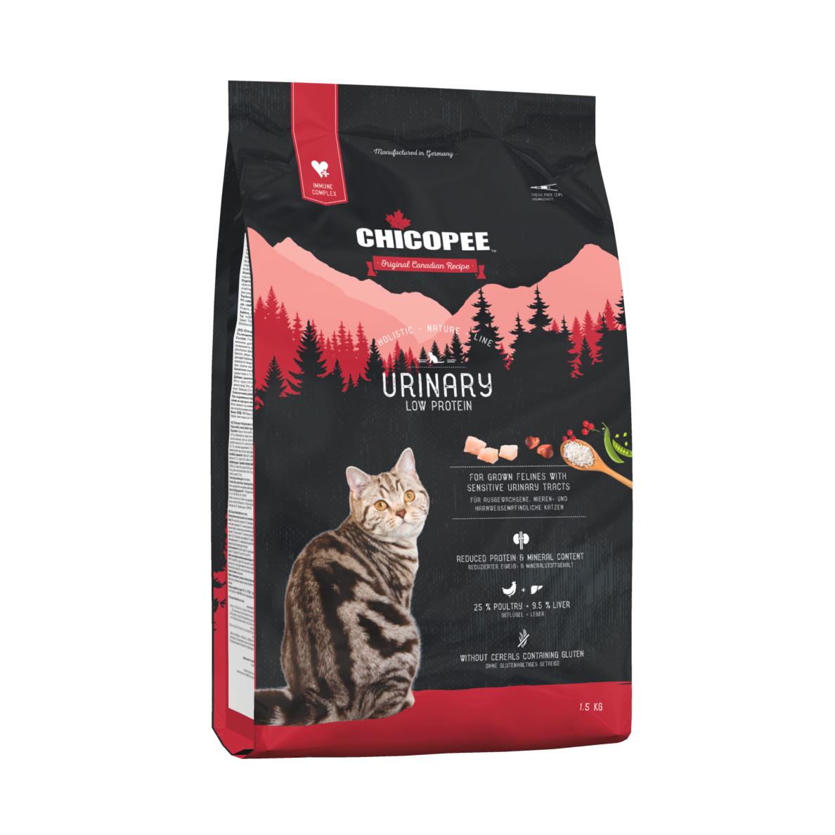 Kačių maistas CHICOPEE Holistic URINARY 1,5kg.