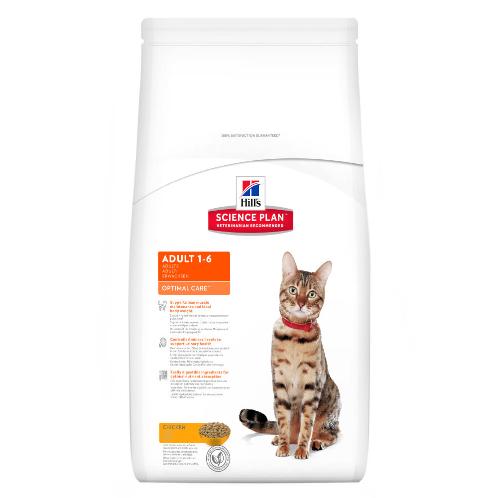 Kačių maistas Hills Feline Adult Optimal Care Chicken 5kg.