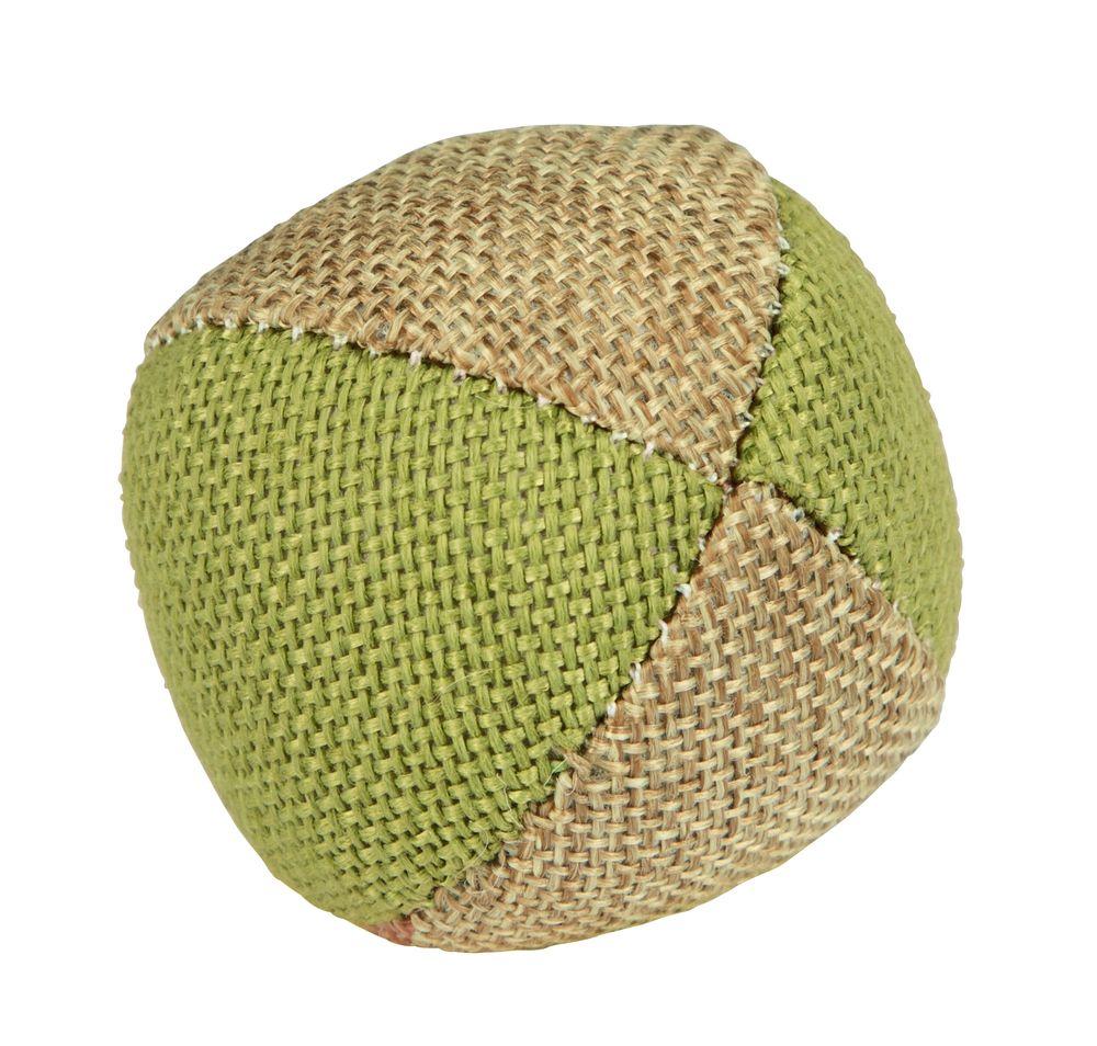 Žaislas katei lininis kamuolys 4,5cm