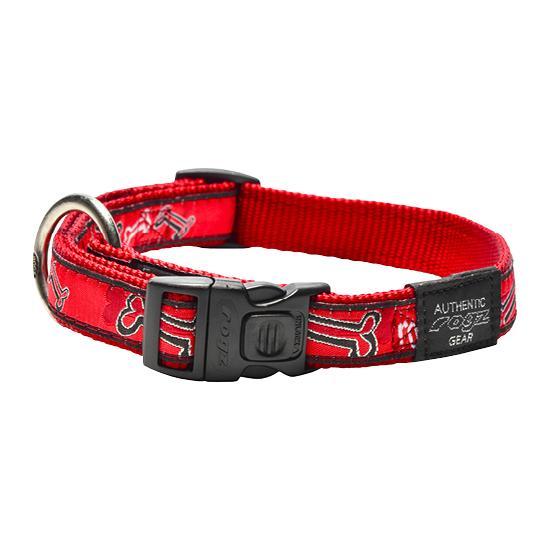 Rogz antkaklis RED BONE 20-32cm HB01CC