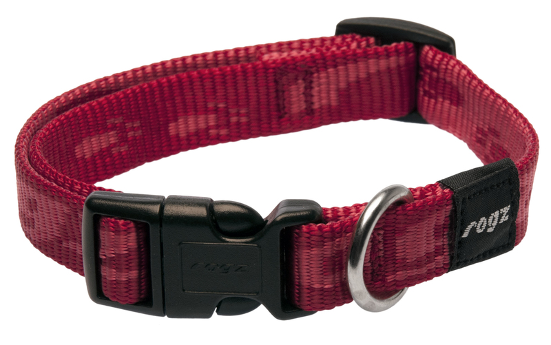 Rogz antkaklis HB23C 26-40cm RED