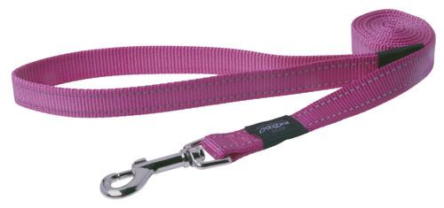 Rogz pavadys su atšvaitu HL11K Pink 1,4m-1,6cm