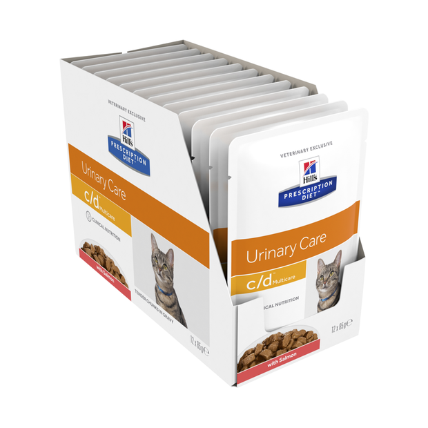 Hills Prescription Diet Feline c/d salmon gulešai 12x85gr
