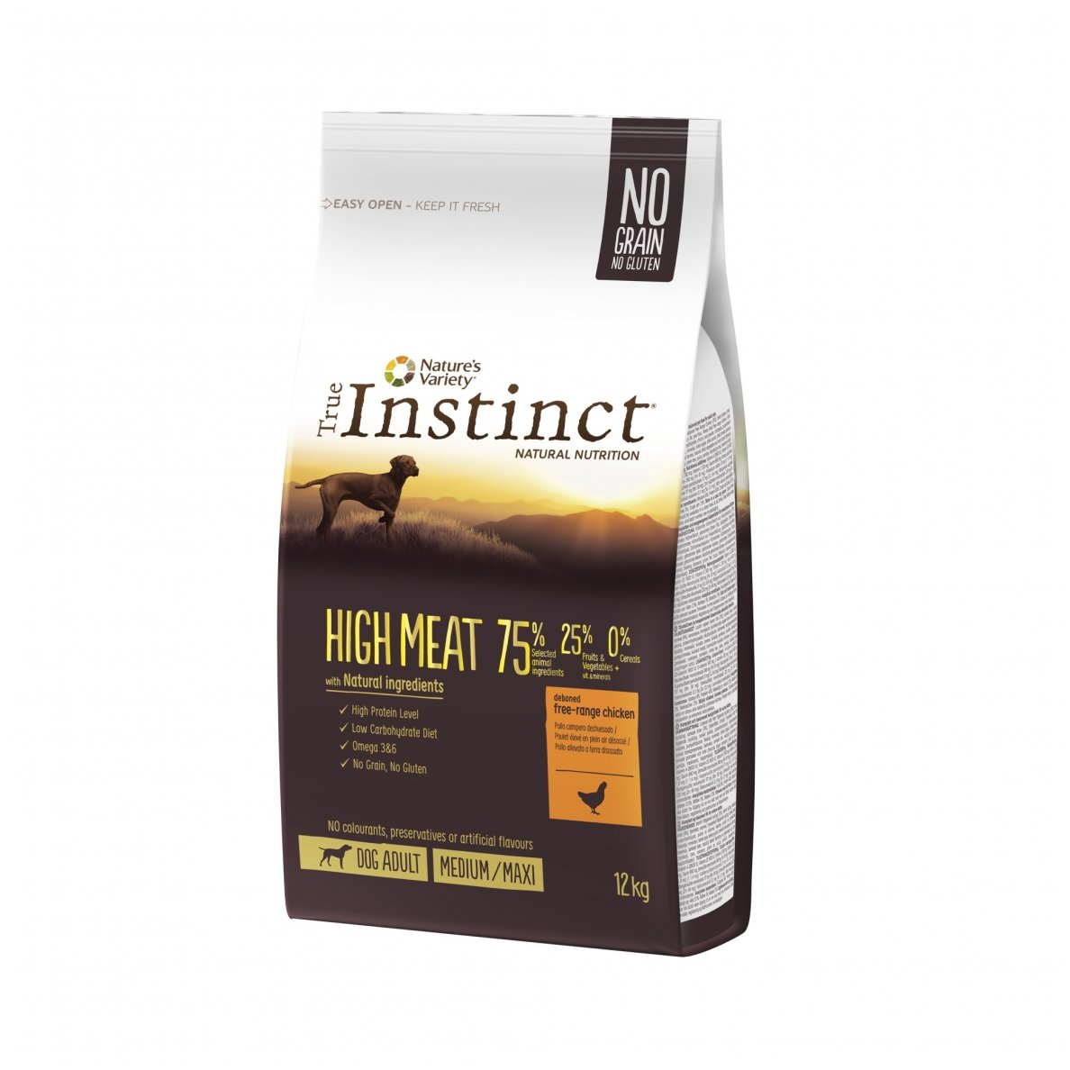 True Instinct HIGH MEAT Medium Maxi adult 12kg