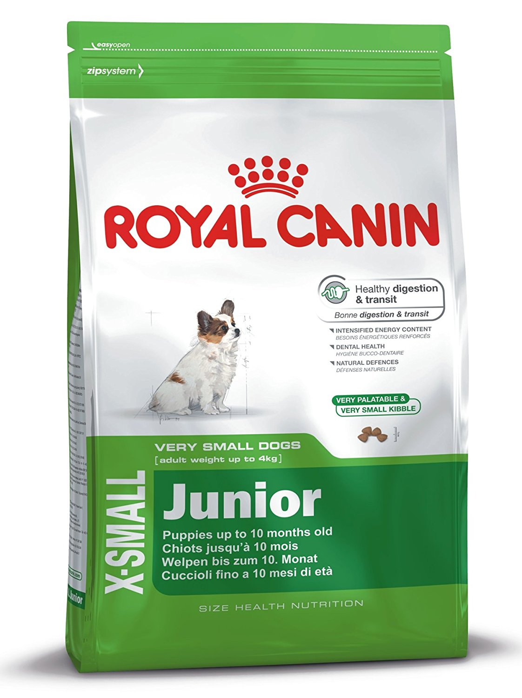 Šunų maistas Royal Canin X-Small Junior 1,5kg.