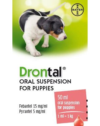 DRONTAL PUPPY, geriamoji suspensija, 50 ml