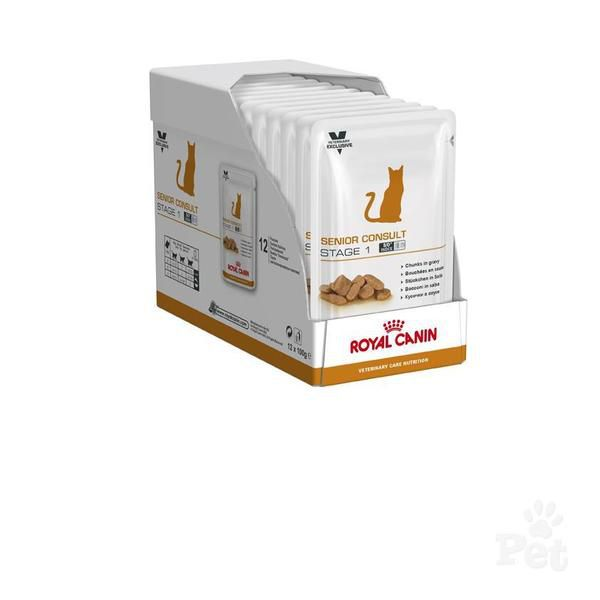Royal Canin Cat Senior Consult Stage 1 100gr x 12vnt