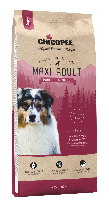 Šunų Maistas Chicopee Maxi Adult Poultry & Millet 2kg.