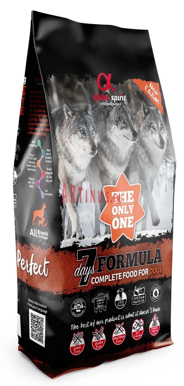 Begrūdis maistas šunims Alpha Spirit 7 Days Week Meniu 12kg