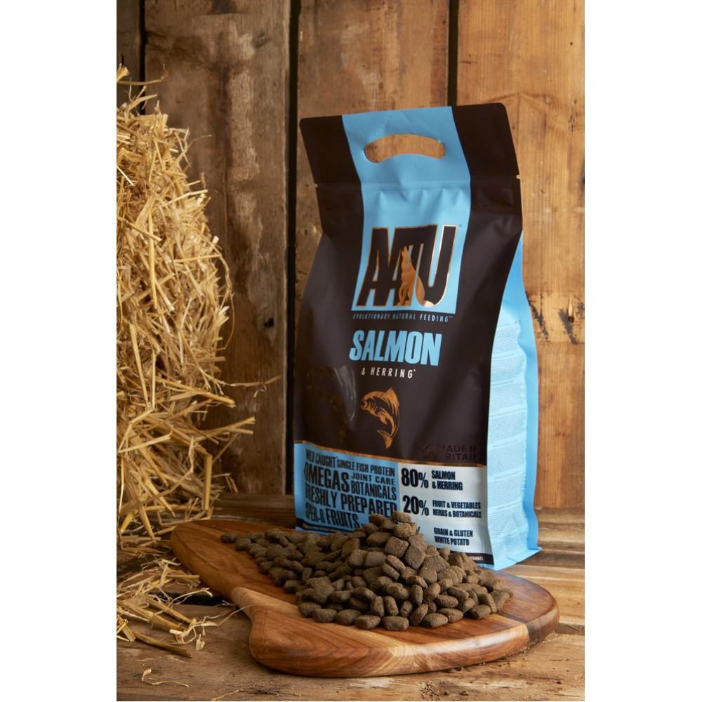 Begrūdis šunų maistas AATU 80/20 SALMON 10kg