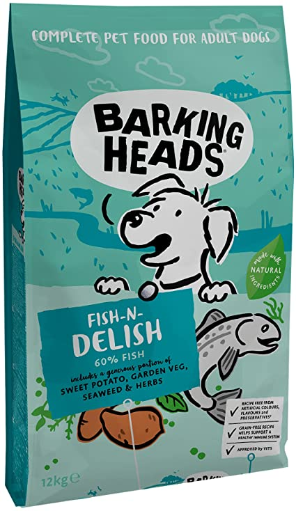 Barking Heads FISH N DELISH GRAIN FREE 12kg.