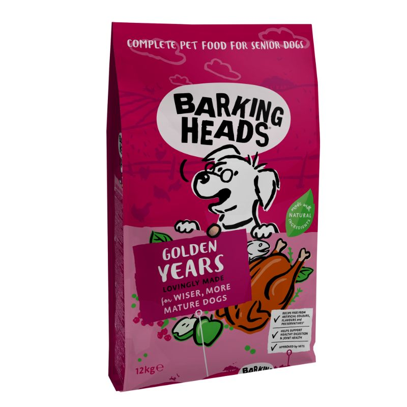 Barking Heads Golden Years 12kg.