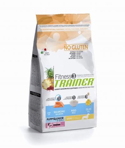 Trainer Fitness 3 Puppy&Junior Mini Salmon*Rise*Oil  2kg.