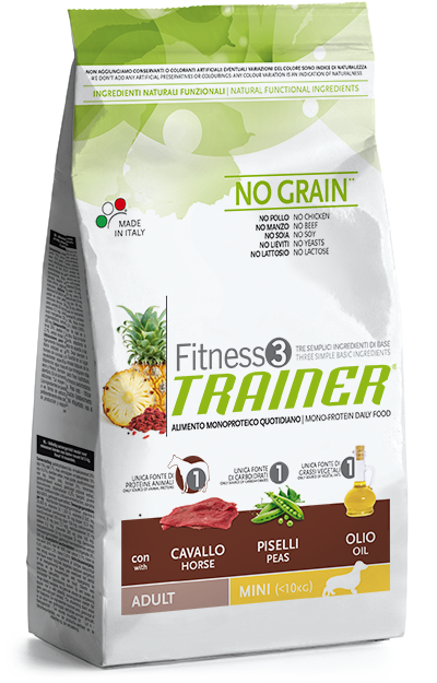 Trainer Fitness 3 Adult Mini Horse-Peas-Oil NO GRAIN 7,5kg.