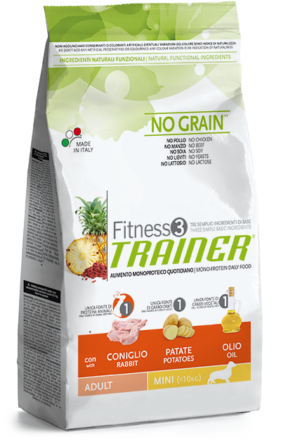 Trainer Fitness3 Adult Mini NO GRAIN Rabbit*Potat*Oil 7,5kg