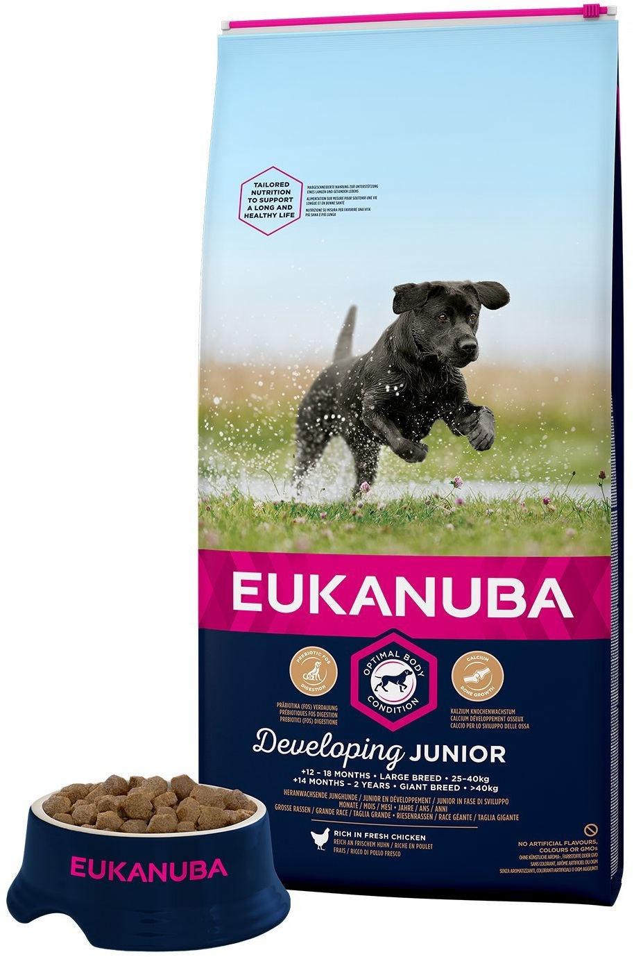Eukanuba Puppy & Junior Small Breed cicken 7,5kg.