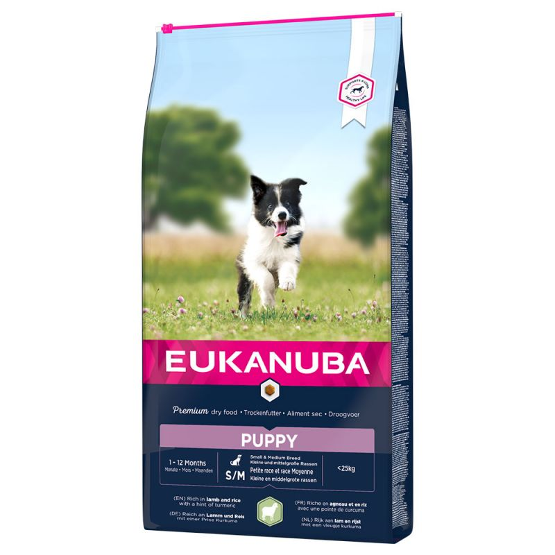 Eukanuba Puppy & Junior All Breeds Lamb & Rice 12kg.