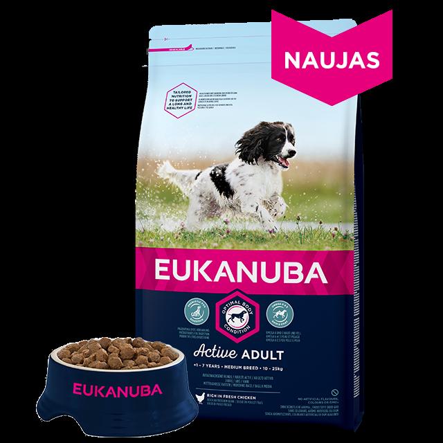 Eukanuba Active Adult Medium Breed chicken 15kg.