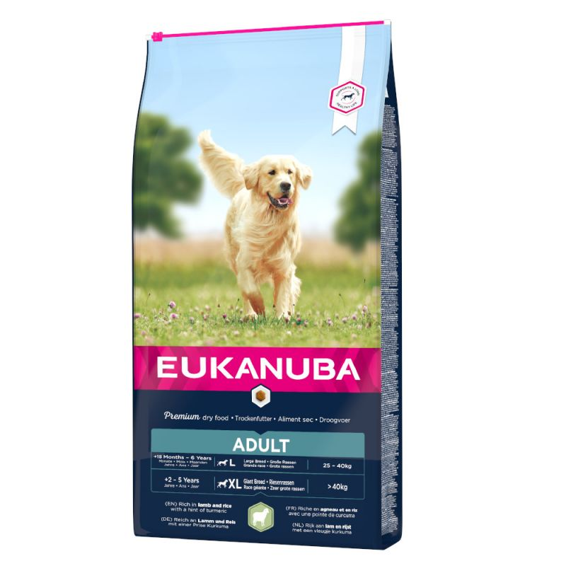 Eukanuba Adult Large Breed Lamb & Rice 12kg.