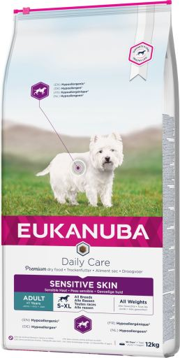 Eukanuba Daily Care Sensitive Skin All Breeds 12kg.