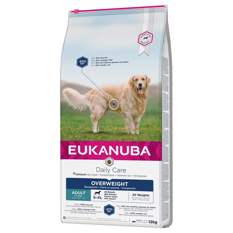 Eukanuba Daily Care Overweight, Sterilized All Breeds 12,5kg