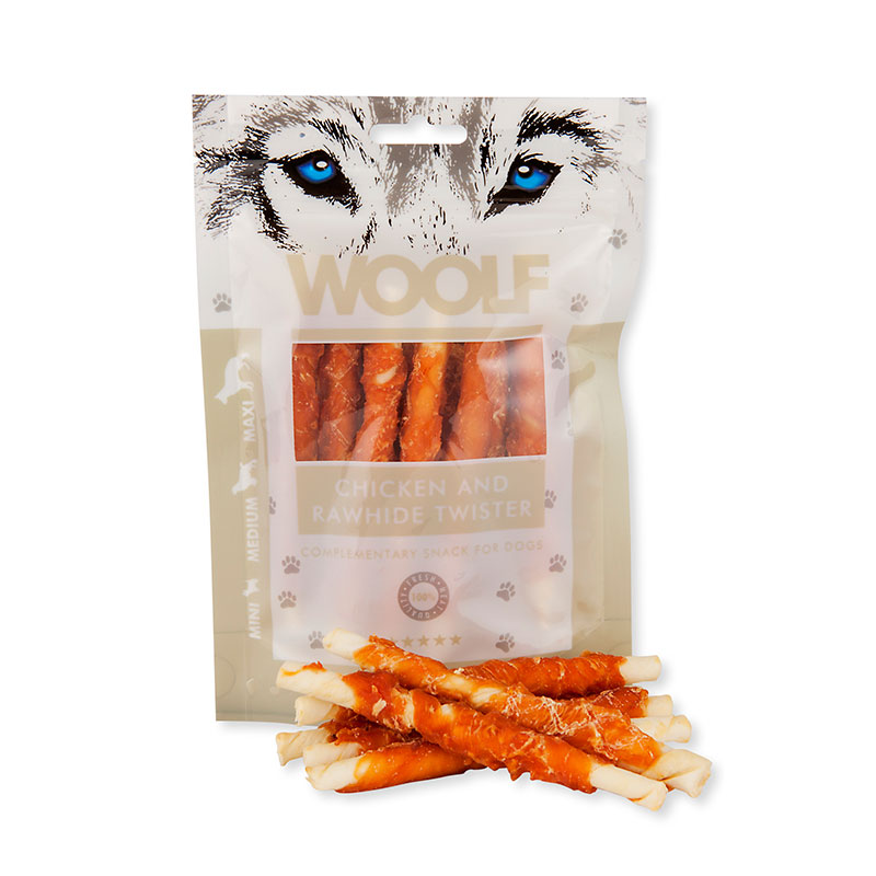 WOOLF Chicken and Rawhide Twister 100gr.