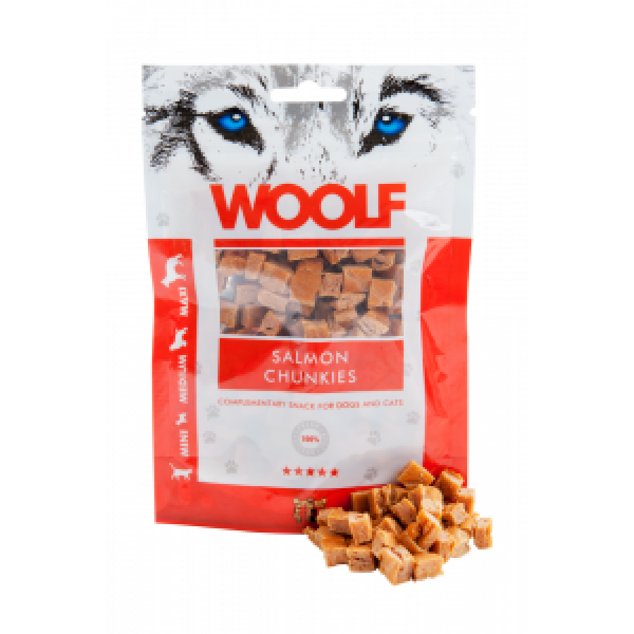 WOOLF Soft Salmon Chunkies 100gr.