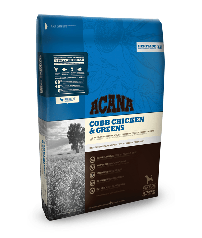 Begrūdis šunų maistas Acana Adult Cobb Chicken&Greens 11,4kg