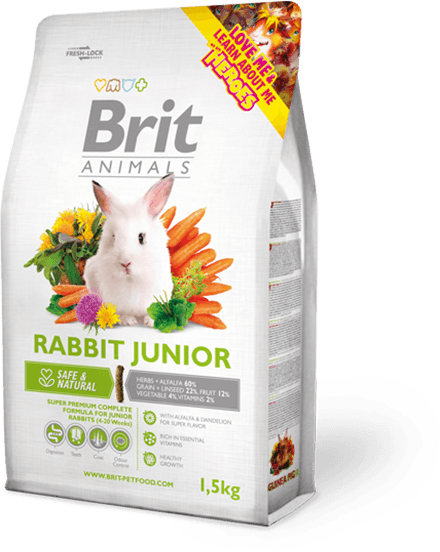 Brit Animals maistas jauniems triušiams 1,5kg.