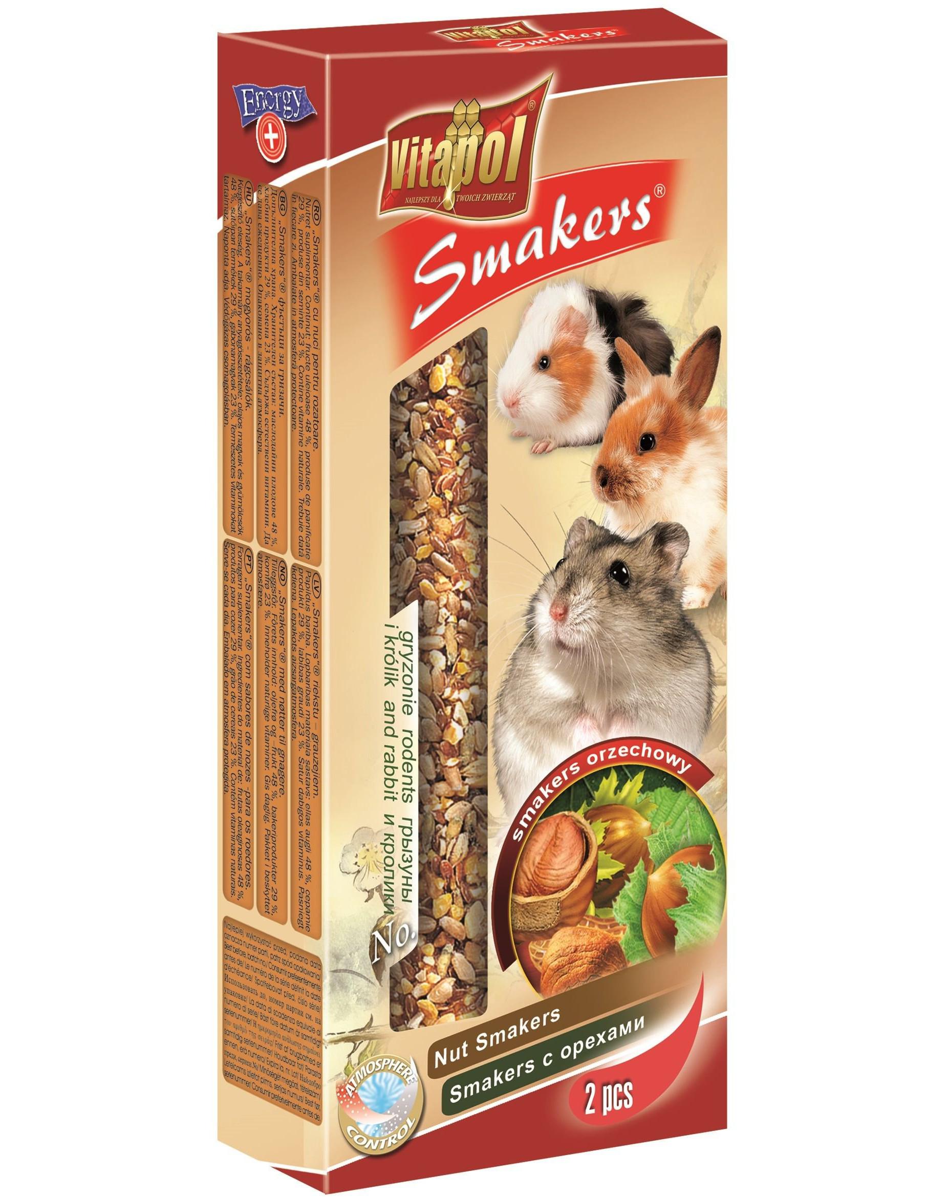 Vitapol Smakers skanėstas graužikams su riešutais 2vnt.-90gr