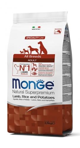 Monge su ėriena, ryžiais ir bulvėmis suaugusiems visų veislių šunims 12kg